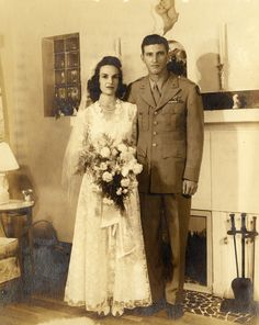 Willard and Dorian B. Fountain on their wedding day in Miami (December 5, 1943).   Florida Memory