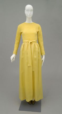 Designed by Hubert de Givenchy, French, born 1927 Made in Paris, France, Europe Date: c. 1970 Medium: Yellow silk organza