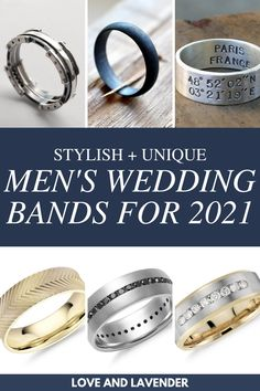 If you're looking for the perfect wedding band for your husband-to-be, you might want to check out our list of the most stylish and unique wedding bands for men. #weddingbands #mensweddingbands #weddingbandsformen Unique Wedding Bands, Wedding Men, Wedding Rings, Bridal Jewelry Sets, Wedding Jewelry, Stylish Rings, Classic Gold, Glitz And Glam, Perfect Wedding