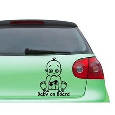 Style and Apply Baby On Board Boy Car Decal Vinyl Wall Art Home Decor (Silver 12in x 15in) (Lead)