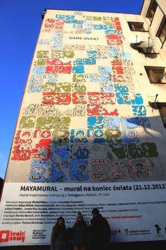Mayamural, day 5, last. 15/18 Day 5, last. #maya #mural #cracow #2012 #graffiti #streetart Cracow, Poland.