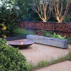 Garden Design Designed by Christopher Owen Landscape Design. Silver Medal winning garden 'Tread Lightly' at the Australian Garden Show Sydney. Garden Fire Pit, Fire Pit Backyard, Garden Show, Diy Garden, Garden Tips, Tree Garden, Back Gardens, Outdoor Gardens, Outdoor Rooms