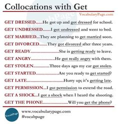 Collocations with GET #learnenglish https://plus.google.com/+AntriPartominjkosa/posts/jQ9vp9pX4qt