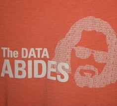 The DATA ABIDES T-Shirt Medium Oracle Cloud Binary Big Lebowski Dude Movie Geek #Canvas #GraphicTee