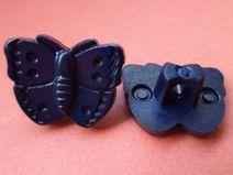 7 KINDERKNÖPFE dunkelblau 15mm x 12mm (380-5)Knopf