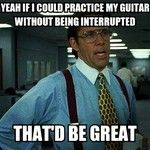 Share My Guitar - Office Space Guitar!