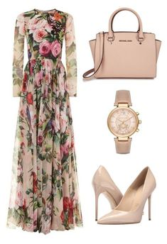 A fashion look from June 2016 by enaleille featuring Dolce&Gabbana, Massimo Matteo and Michael Kors Look Fashion, Hijab Fashion, Fashion Dresses, Womens Fashion, Fashion Trends, Fashion News, Modest Outfits, Classy Outfits, Stylish Outfits