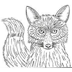 Fox Traceable Coloring Sheet. #angelafineart