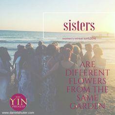 Sisterhood bezeichnet das neue WIR im Kreis der Frauen. #yinprinzip Inspirierender Text, Different Flowers, Sisters, Movie Posters, Movies, Further Education, Knowledge, Quotes, 2016 Movies