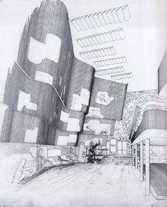 Pabellón finlandés para la Exposición Universal de Nueva York de 1939 | alvar aalto pabellon de finlandia new york - dibujo interior 350