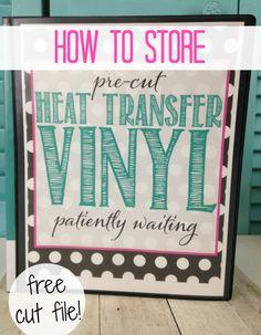 storing heat transfer vinyl cut, htv designs, heat transfer vinyl silhouette cameo, silhouette cameo tutorials