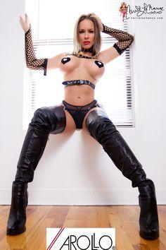 Carrie Lachance in AROLLO Thigh High Crotch Boots Queen www.arollo.net www.carrielachance.com