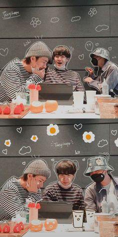 Bts Suga, Bts Taehyung, Bts Bangtan Boy, Foto Bts, Bts Group Picture, Fanart Bts, Bts Pictures, Photos, Bts Backgrounds