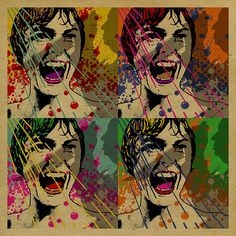 Alfred Hitchcock's Psycho Janet Leigh's famous shower scene. bates motel.  Pop Art. Andy Warhol. Print. kraft paper