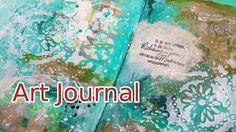 Art Journal Page Mixed Media - 3/2017 - Richtung & Mut. Mein drittes Art Journal 2017 ist da - u.a. wieder mit einem schönen Spruchstempel - schaut mir zu! Art Journal process (deutsch) - Nichts ist falsch - alles ist möglich :) #artjournal