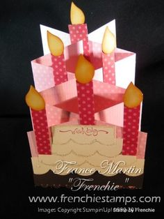 Cascading Birthday by France Martin - Cards and Paper Crafts at Splitcoaststampers  Love this cascading effect... :)))