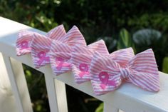 American Cancer Society Bow. 20% of the proceeds benefit the American Cancer Society