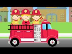 ▶ ABC Firetruck Song for Children - Fire Truck Lullaby & Nursery Rhyme in 1080 HD - YouTube