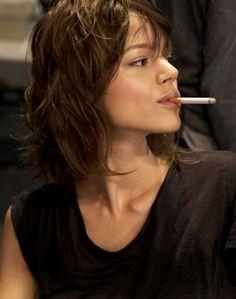 sophyrobsonarchive:  freja Beha smokin hot backstage at Stella Mccartney show, Paris in 2010