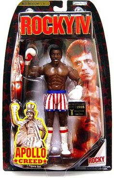 Jakks Pacific Best of Rocky Action Figure Apollo Creed Rocky IV Vs. Comic Movies, Comic Books Art, Toys R Us, New Toys, Retro Toys, Vintage Toys, Apollo Creed, Hyper Beast, Dc Rebirth