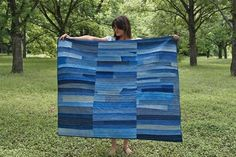 How to DIY Denim Rag Quilt From Old Jeans (Pattern) - CraftSmile