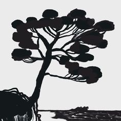 Island view by Maria Sann Silhouette, Draw, Island, Spring, Illustrations, Instagram, To Draw, Illustration, Drawings