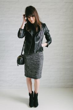 Mixing things up at work minus the leather jacket during the day.  #un-fancy.com #whattowear