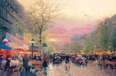 Paris, City of Lights Painting by Thomas Kinkade