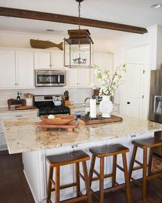 Supreme Kitchen Remodeling Choosing Your New Kitchen Countertops Ideas. Mind Blowing Kitchen Remodeling Choosing Your New Kitchen Countertops Ideas. Kitchen Furniture, Kitchen Interior, Kitchen Decor, Kitchen Design, Kitchen Ideas, Kitchen Inspiration, Pottery Barn Kitchen, Kitchen Trends, Closed Kitchen