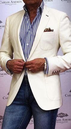 White Custom Made Jacket for Men.
