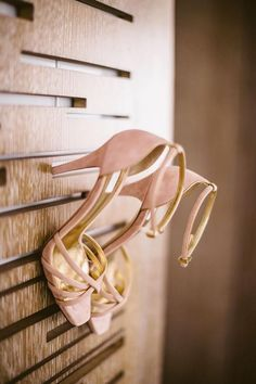 pale blush beauties wedding shoes