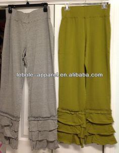 2014 Fashion Cotton Cheap Women Ladies Ruffle Pants Wide Waist Yoga Ruffle pants $13.8~$25.8