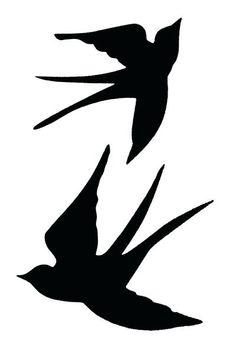 Ideas Bird Tattoo Silhouette Stencils For 2019 Vogel Illustration, Swallow Tattoo, Tattoo Bird, Silhouettes, Bird Stencil, Silhouette Portrait, Bird Silhouette Art, Bird Drawings, Stencil Designs