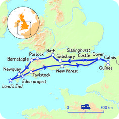 Camperreis door Engeland - Zuid-Engels genieten | NKC Eden Project, Road Trip Map, South West Coast Path, England And Scotland, Salisbury, Scotland Travel, Future Travel, Touring, Travel Inspiration