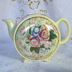 Vintage English China Art Deco Shape Teapot by by Wicksteads, £59.95