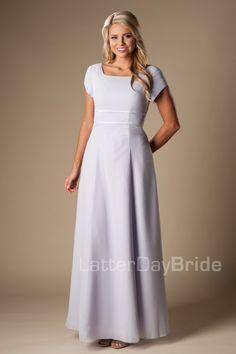 Connor ~ a beautiful, long, modest bridesmaid dress. | Wedding ...