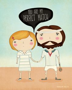 """You're my perfect match"" card by @Rachael E Smith"