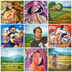 Joel Masaya's art breathes new life into it, and makes it a way to celebrate life by utilizing the riotous colors and complex forms naturally abounding in these islands. This is what Joel Masaya has been doing in his paintings. This art form is a way of showing the real identity of the artist into their works as a Filipino. He paints to preserve the life of the past and the forgotten culture long ago silenced.