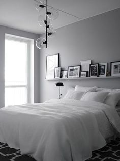 Grey and White Bedroom Design. Grey and White Bedroom Design. Bedroom Decor Gorgeous Gray and White Bedroom Decor with Couple Bedroom, One Bedroom, Home Decor Bedroom, Diy Room Decor, Bedroom Furniture, Bedroom Ideas, White Furniture, Bedroom Designs, Grey Bedroom Design