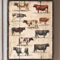 Cow Wall Art | Cattle Paintings And Prints | by Antique Farnhouse