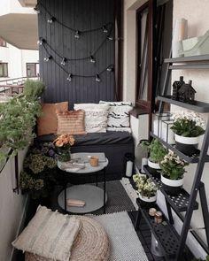 Apartment Balcony Decorating, Apartment Balconies, Apartment Living, Apartments Decorating, Condo Living, Small Cozy Apartment, Living Rooms, Small Balcony Design, Small Balcony Decor