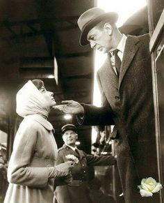 Audrey Hepburn e Gary Cooper nel film Arianna (1957) di Billy Wilder
