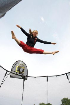Trampoline - Have bouncing competitions such as: Who can complete the most seat drops in a minute? Who has the most spectacular star jump? Who can jump the longest?