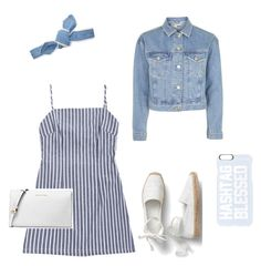 """""""Blue dayyy"""" by kristinaapaguni on Polyvore featuring мода, Topshop, Michael Kors, Colette Malouf и Private Party"""