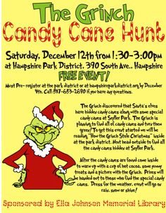 Grinch Candy Cane Hunt | Hampshire Park District