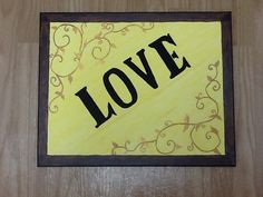 Love with scrollwork by MajesticRoodArts on Etsy, $15.00