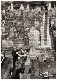 Ironworker on Empire State Building (photo by Lewis Hines)