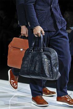 Sfilata Moda Uomo Giorgio Armani Milano - Primavera Estate 2013 - Vogue.  Giorgio ArmaniLeather BagBag ... 4b9ea24430c85
