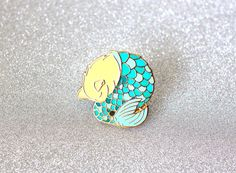Purrmaid enamel pin mermaid cat hard enamel pin by OhPlesiosaur