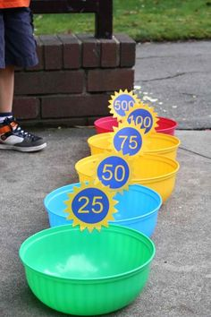 Carnival game (baskets might look nice too)